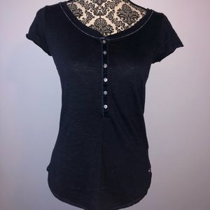 Abercrombie & Fitch navy blue top